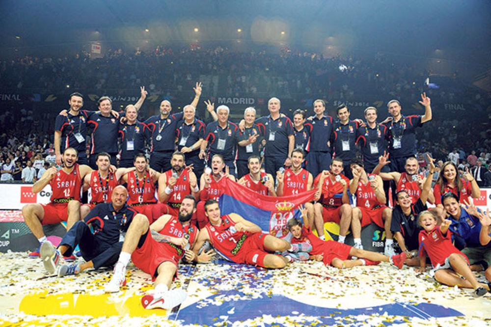 ORLOVI NAPREDOVALI POSLE SREBRA NA SP: Srbija na sedmom mestu FIBA rang liste