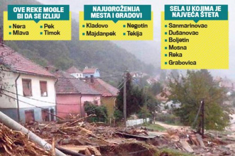 KATAKLIZMA U ISTOČNOJ SRBIJI: Brda klize, drveće leti po putu, poginula starica!