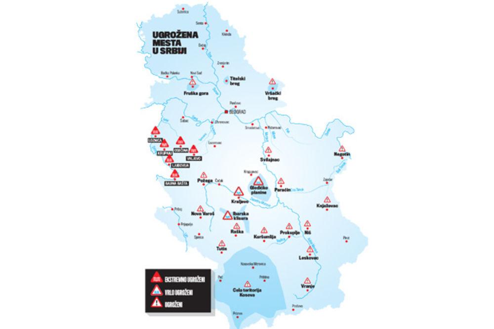 UPOZORENJE STRUČNJAKA: Srbiji preti 11.500 bujičnih tokova!