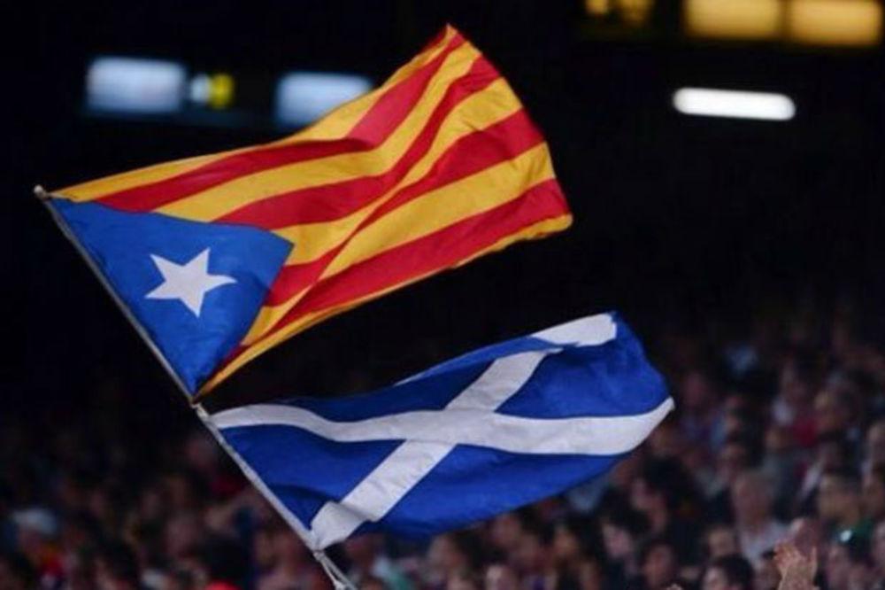 POLITIKA NA NOU KAMPU: Navijači Barselone podržali nezavisnost Škotske!