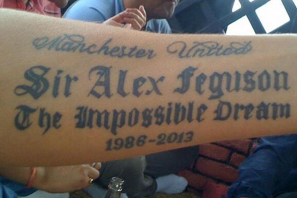 PREDMET PODSMEHA: Navijač Mančester junajteda doživeo fijasko sa novom tetovažom