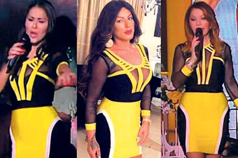 RAZLIKA JE SAMO U DEKOLTEU: Seka, Mina i Neda u istoj haljini!