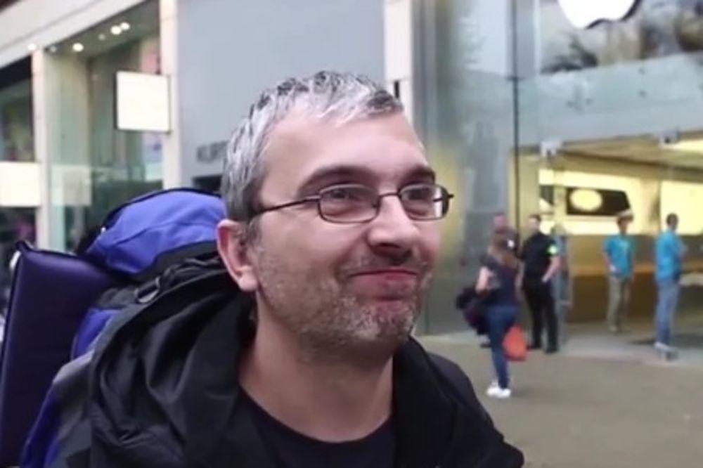 (VIDEO) Čekao 44 sata za novi ajfon da bi se pomirio sa suprugom!