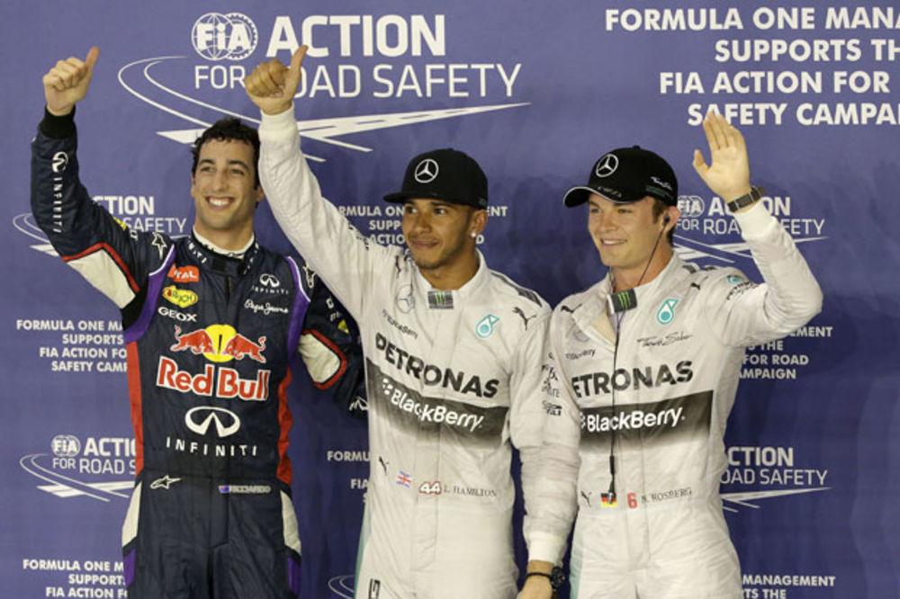LUIS BRŽI ZA DLAKU ISPRED ROZBERGA: Hamilton osvojio pol poziciju u Singapuru