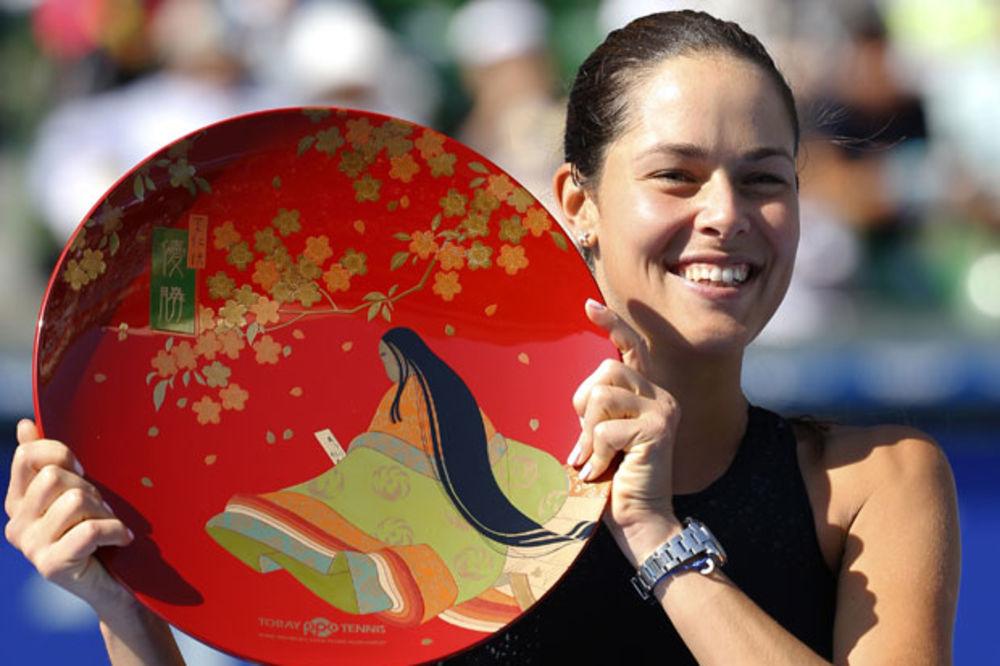 (VIDEO) BEZ IZGUBLJENOG SETA: Fenomenalna Ana Ivanović osvojila turnir u Tokiju