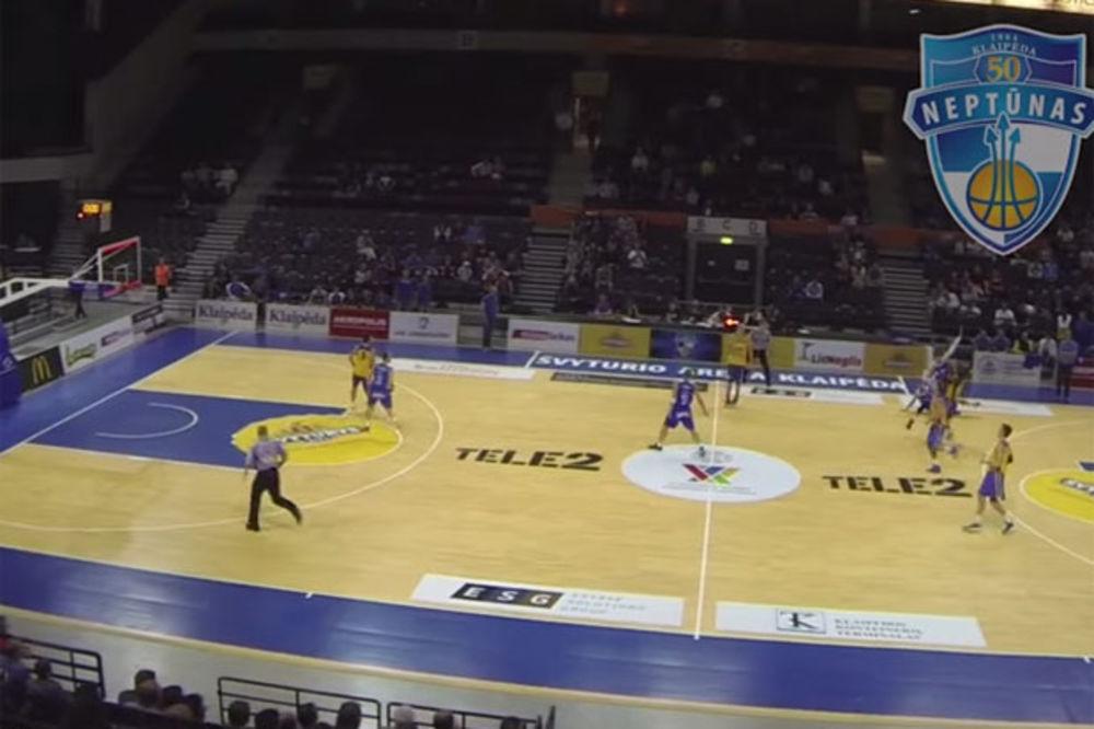 OVO MOGU SAMO MAJSTORI: Pogledajte nemoguću trojku košarkaša Ventspilsa u poslednjoj sekundi
