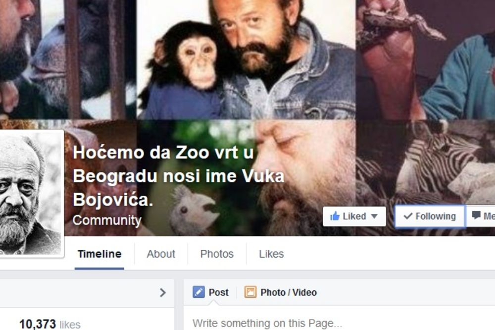 AKCIJA NA FEJSBUKU: Više od 10.000 ljudi podržalo predlog da Zoo vrt nosi ime Vuka Bojovića!