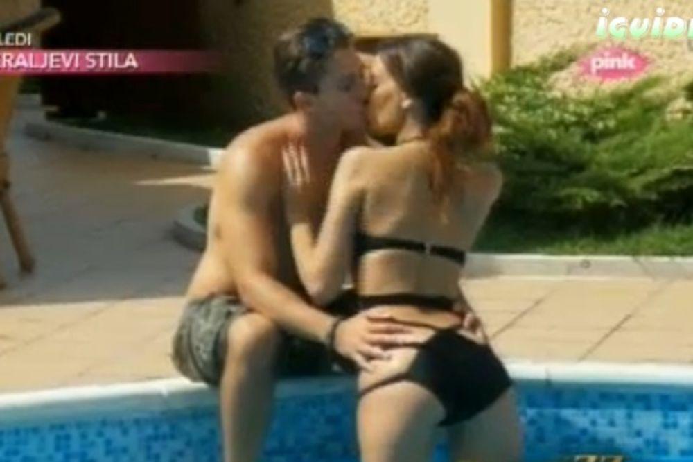 NISTE U PORNO-FILMU: Kaća i Boris se pipkali na bazenu!