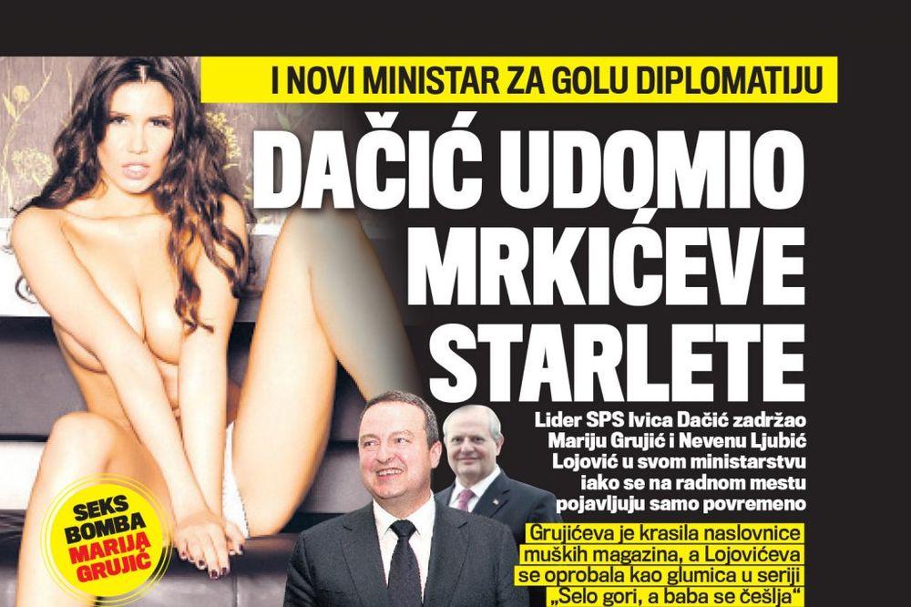 DANAS U KURIRU VOLI GOLU DIPLOMATIJU: Dačić udomio Mrkićeve starlete!