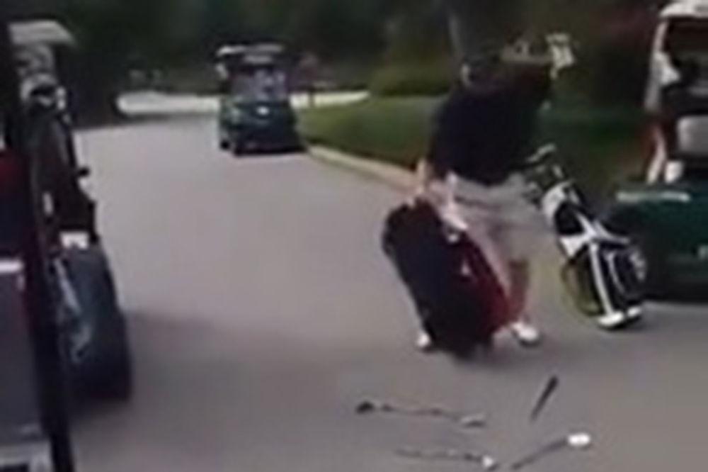(VIDEO) POMRAČENJE UMA: Američki golfer posle poraza uništio opremu vrednu nekoliko hiljada dolara