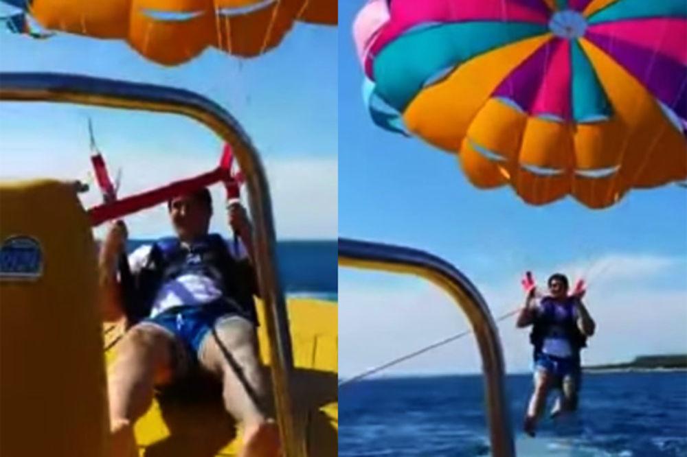 (VIDEO) HRVATI SPASLI KRISTIJANA: Jedva ga izvadili iz zaglavljenog padobrana!