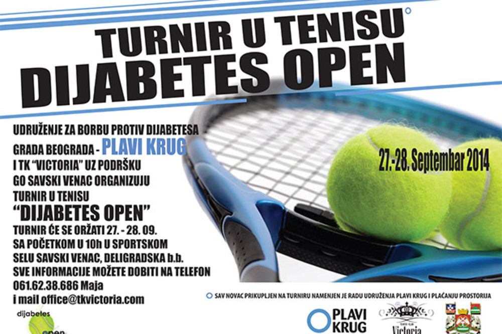Dijabetes open 2014: Humanitarni teniski turnir za vikend