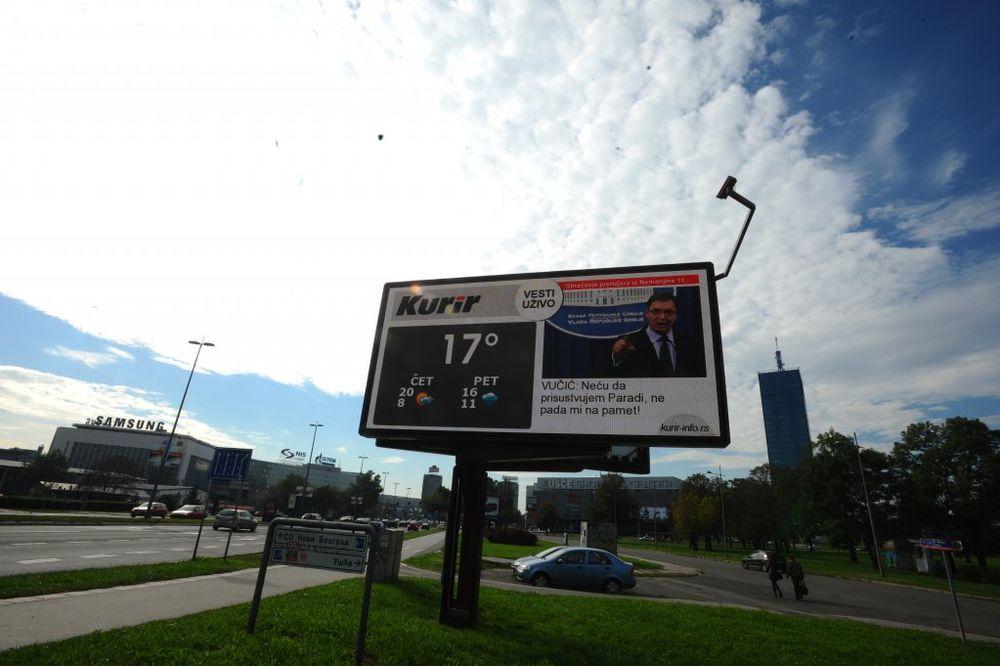 KURIR PRVI U REGIONU: Najvažnije vesti čitajte na bilbordima širom Beograda!