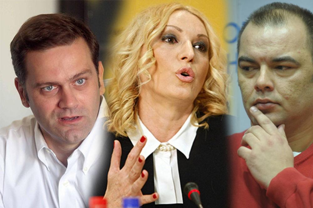 BORKA DEVOJKA BRANI OD JEŠIĆA: Voditeljka Olja Kovačević daje instrukcije demokratama!