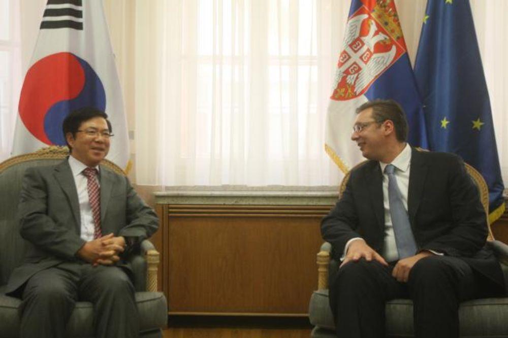 OPROŠTAJNA POSETA: Vučić primio ambasadora Južne Koreje
