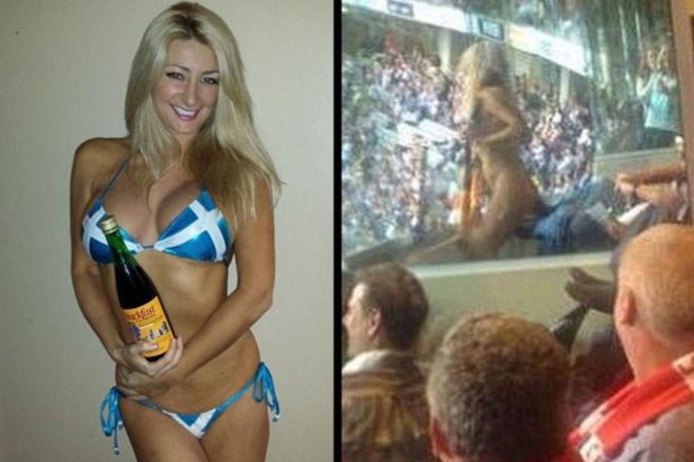 (VIDEO) SEKSI MANEKENKA ISPUNILA OBEĆANJE: Skinula se do kraja na ragbi utakmici
