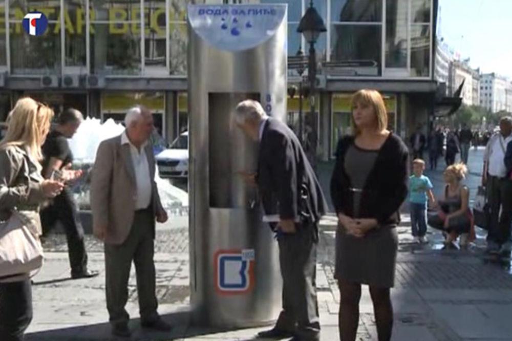 SPAS ZA ŽEDNE: Dve mobilne česme u Knez Mihailovoj i na Slaviji