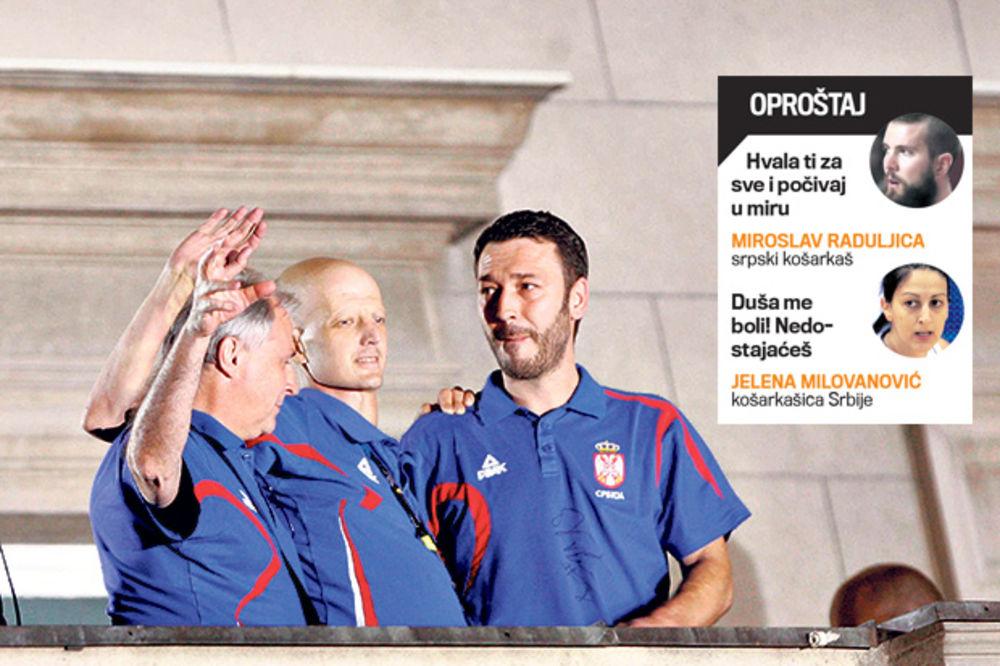 IN MEMORIAM SRĐAN SARIĆ Košarkaši Srbije: Nismo hteli da nas vidi kako plačemo