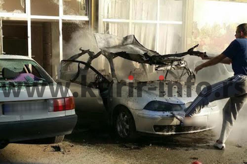 EKSPLOZIJA U NOVOM SADU: Pogledajte snimak kako je automobil odleteo u vazduh!