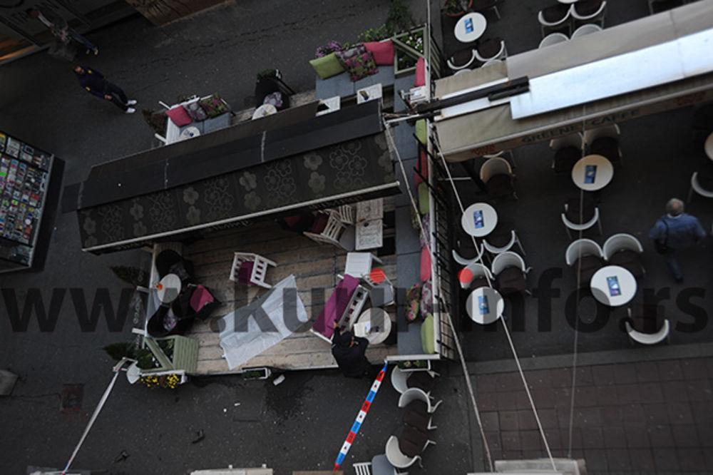 PALA U BAŠTU KAFIĆA: Devojka skočila sa zgrade u Nušićevoj ulici!