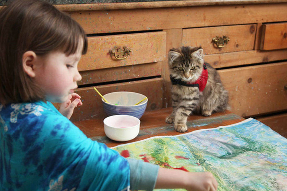 MONEOVA NASLEDNICA: Devojčica obolela od autizma slika remek-dela