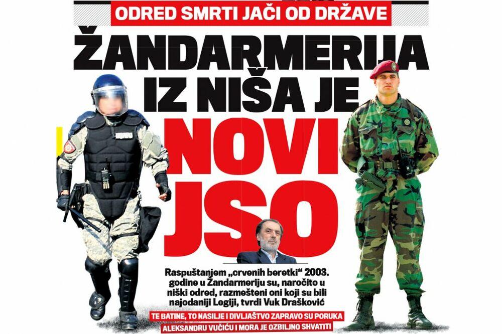 DANAS U KURIRU JAČI OD DRŽAVE: Žandarmerija iz Niša je novi JSO!