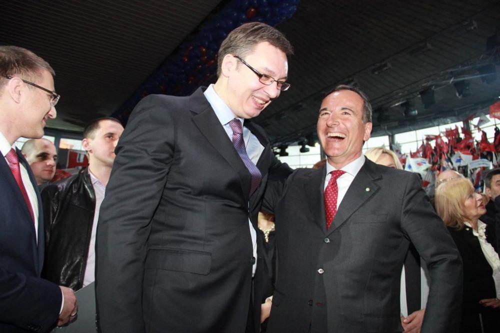 Vučić danas sa Frankom Fratinijem