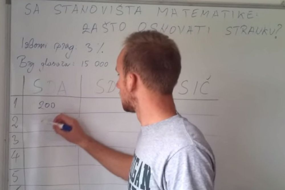 POKREĆETE BIZNIS? Pogledajte kako je Bosanac matematički izračunao zašto se isplati osnovati stranku