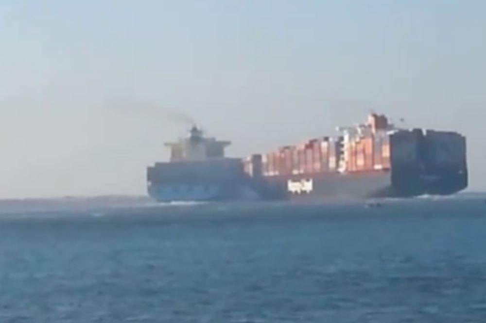 (VIDEO) KRKLJANAC U SUECU: Pogledajte sudar dva ogromna teretna broda!