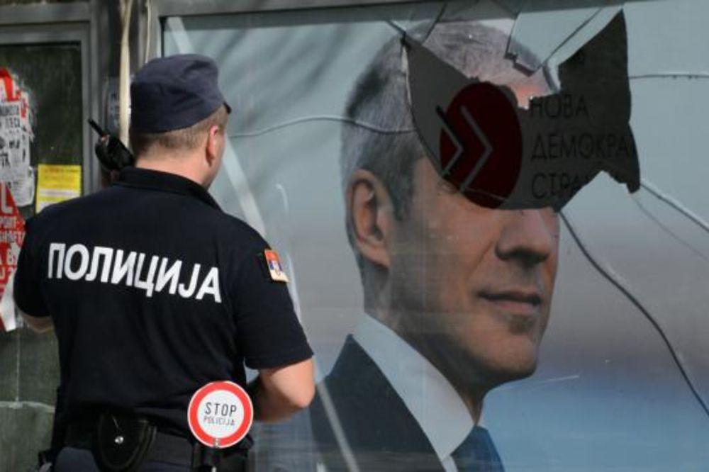 NAPAD NA SDS: Razbijen izlog Tadićeve stranke u Kragujevcu