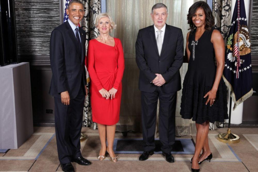 NA MARGINAMA SEDNICE UN: Barak Obama s Nebojšom i Dijanom Radmanović na prijemu