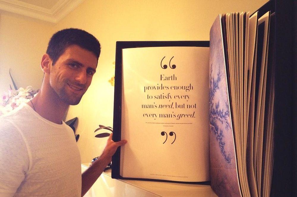 USVOJIO INDIJSKU POSLOVICU: Novak se divi Gandijevim mislima