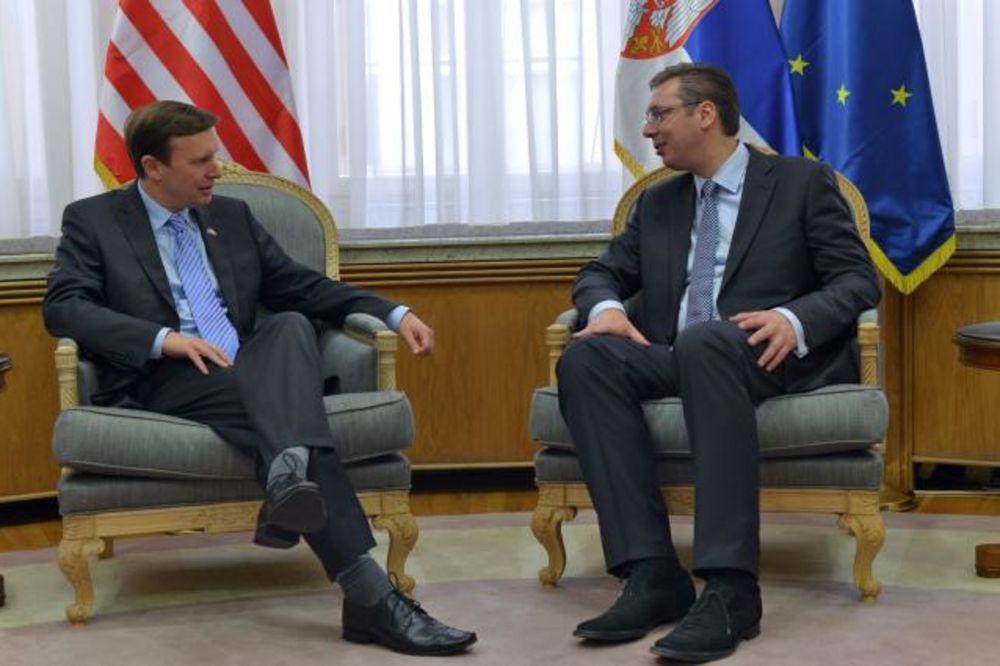 Vučić sa senatorom Marfijem: Odnosi unapređeni, američki investitori dobrodošli