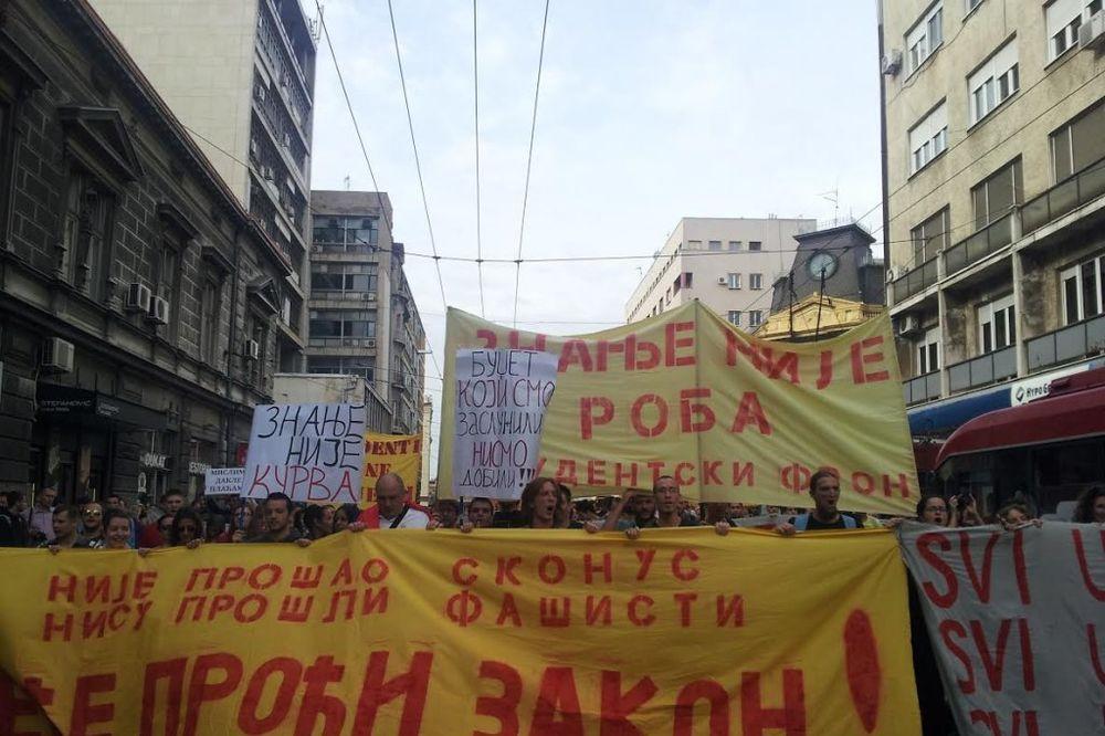KOLAPS U CENTRU GRADA: Studenti predali zahteve ministarstvu prosvete!