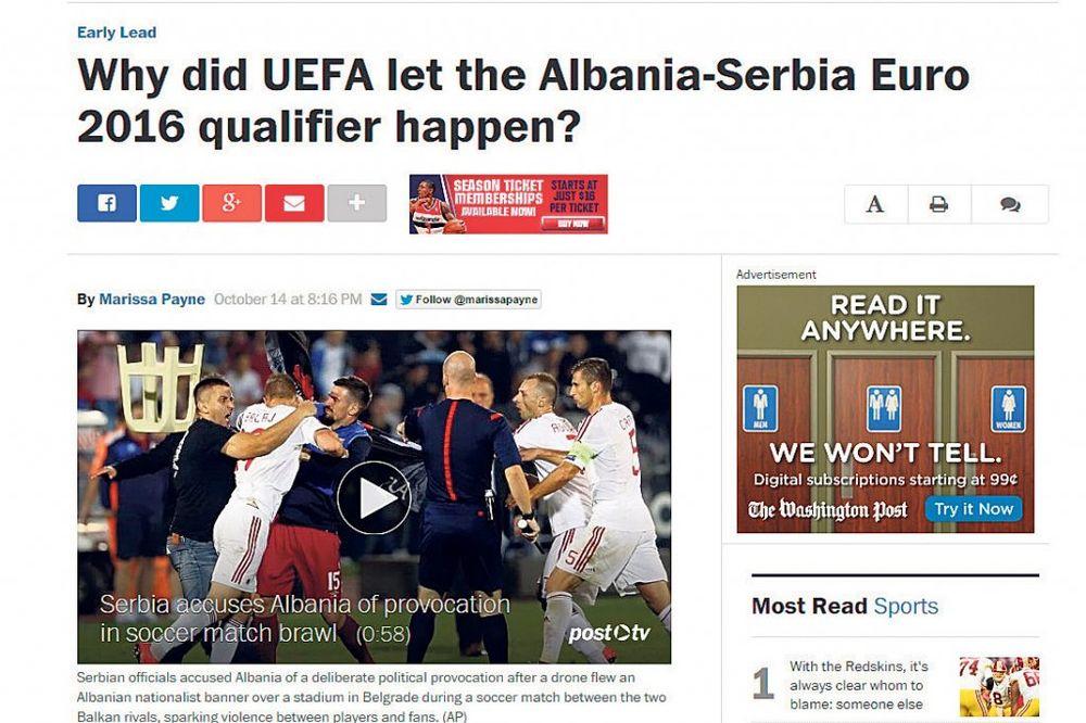 STRANI MEDIJI: UEFA je kriva za haos u Srbiji