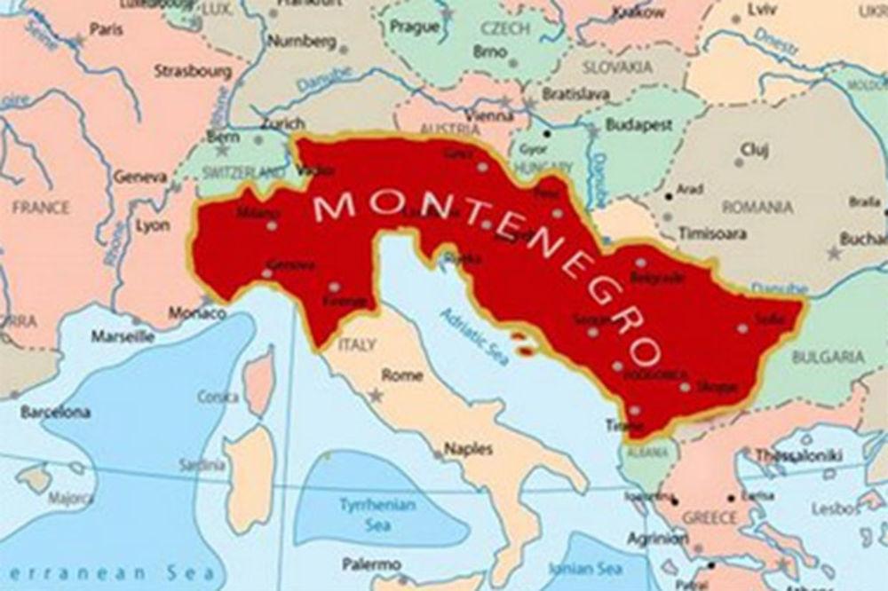 MORALO JE DA SE DESI: Mapa Velike Crne Gore hit na društvenim mrežama!
