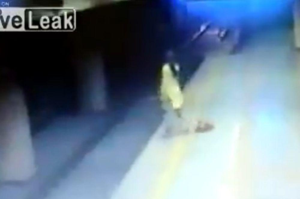 (VIDEO) Bacila se pod voz i ostala živa!