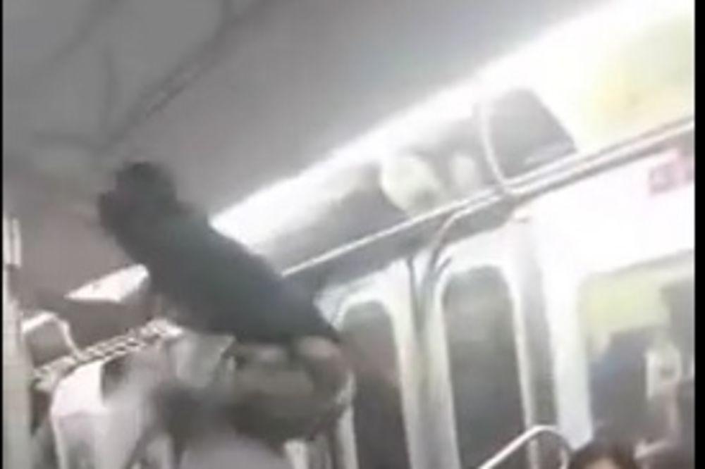 OVO MOŽETE DOŽIVETI SAMO U NJUJORKU: Izveli plesni šou u vozu i oduševili putnike!
