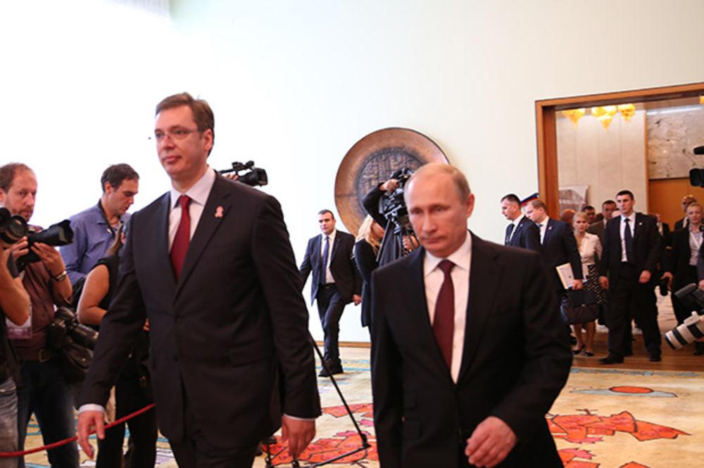 BOGATA SRPSKA TRPEZA: Putina oduševilo predjelo