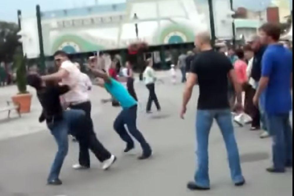 (VIDEO):  Srbin u Beču složio dvojicu Albanaca na zemlju!
