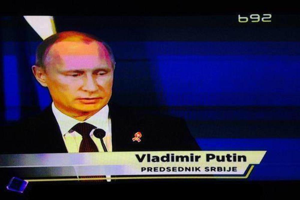 DA LI JE NEKO OBAVESTIO NIKOLIĆA? Vladimir Putin je predsednik Srbije!
