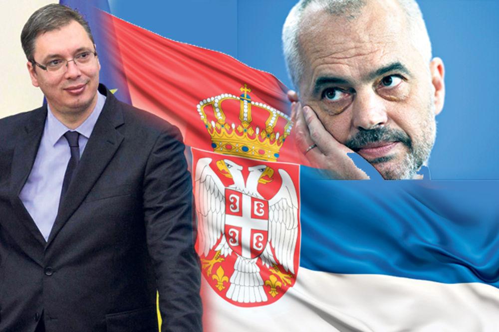 RAMU ČEKA DVOGLAVI ORAO: Albanski premijer klanja se srpskoj zastavi!