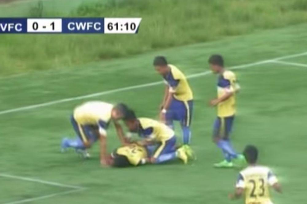 PRESTANITE OVAKO DA SLAVITE: Fudbaler poginuo kada je uz salto slavio gol