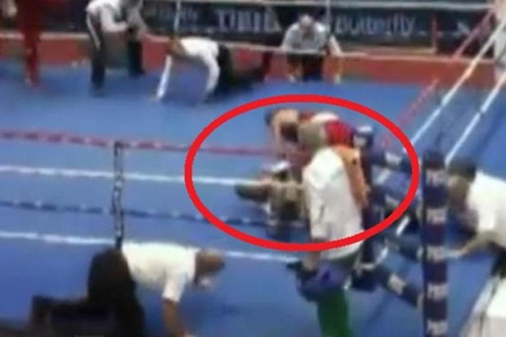 (VIDEO) PUKLA BRUKA U ZAGREBU: Mladi hrvatski bokser nokautirao sudiju na EP!