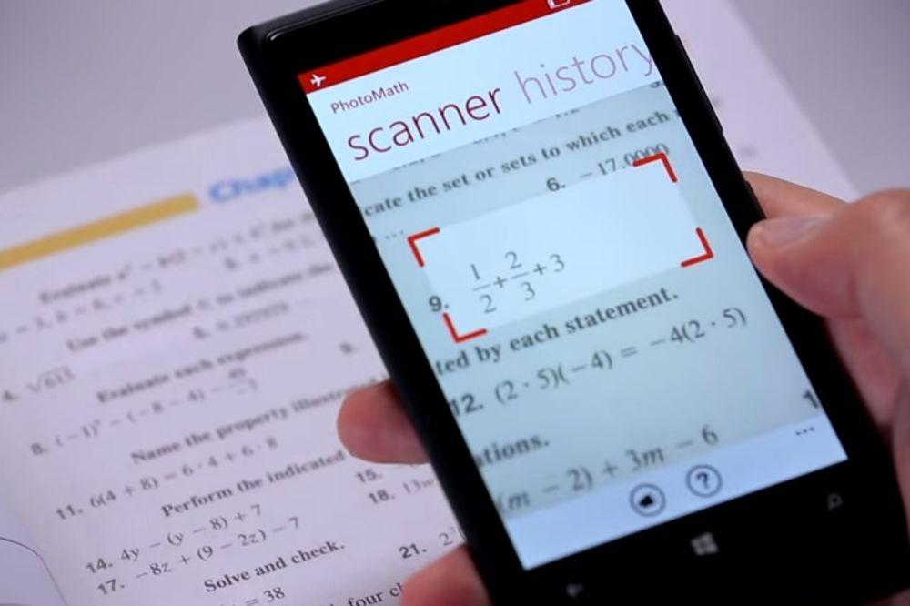 NOVA APLIKACIJA OLAKŠAVA ŽIVOT: Pomoću kamere rešava matematičke zadatke!