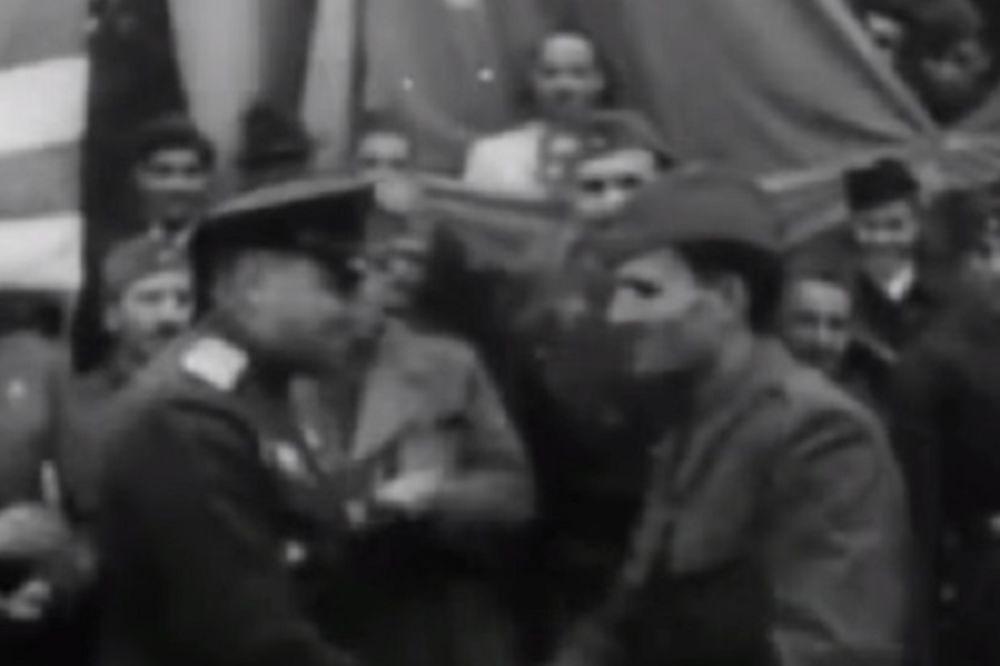 OSLOBOĐENJE 1944: DOSAD NEVIĐEN SNIMAK Crvena armija i NOVJ trijumfalno ulaze u Beograd!