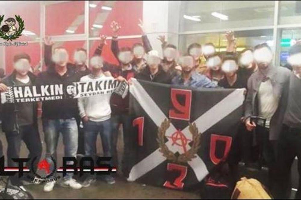 TURSKA OFANZIVA NA BEOGRAD: Navijači Bešiktaša već stigli na meč protiv Partizana
