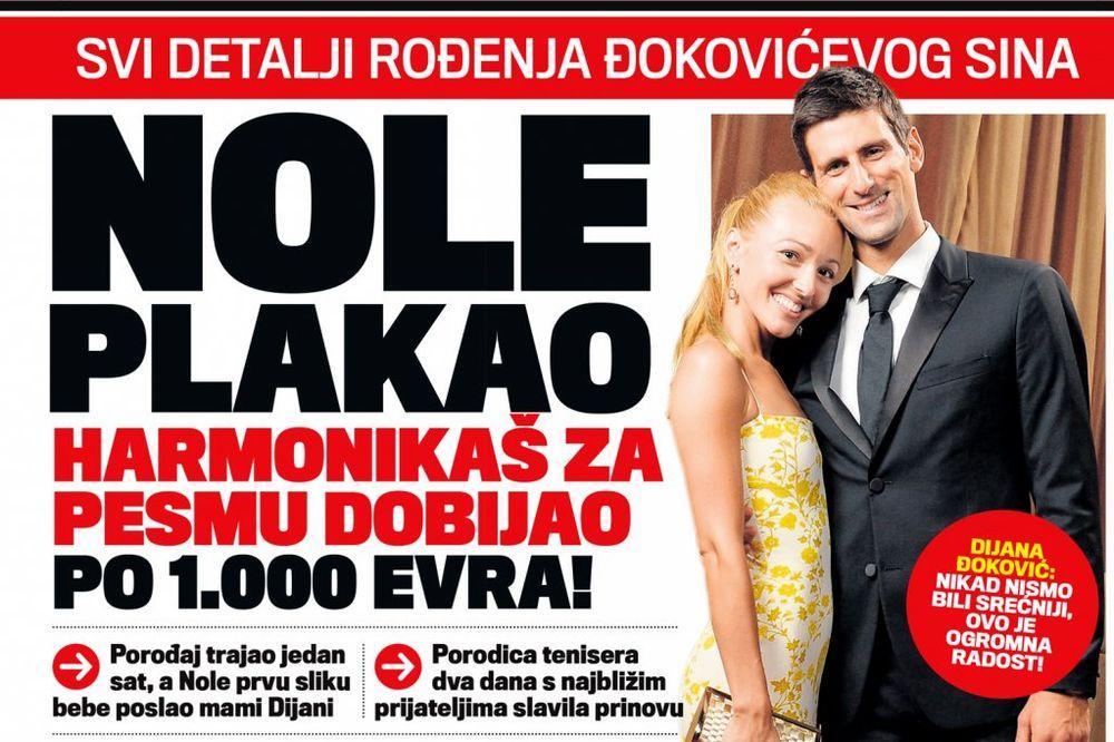 DANAS U KURIRU NOLE PLAKAO ZBOG SINA: Harmonikaš za pesmu dobijao po 1.000 evra!