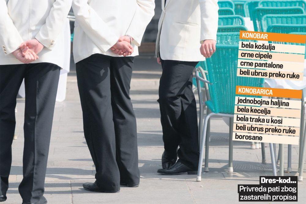 APSURD: Čistačice da nose čizme, konobarice belu traku, a konobari crne pantalone