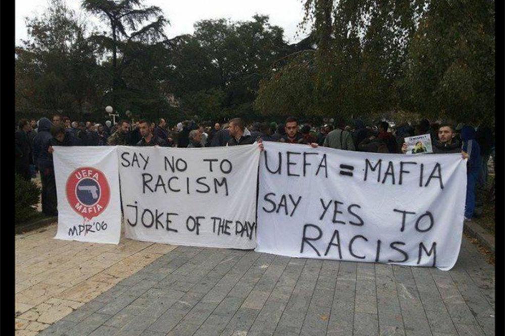 """(FOTO) ALBANCI SU CRNCI, TAKO ONI KAŽU: Optužili UEFA za """"rasizam""""!?"""